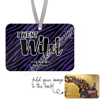 Geaux Wild Rectangle Ornament - Personalized