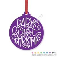 Engraved Acrylic Ornament - Baby's First Christmas (2019)