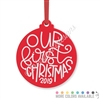 Engraved Acrylic Ornament - Our First Christmas (2019)
