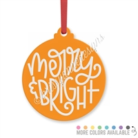 Engraved Acrylic Ornament - Merry & Bright