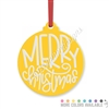 Engraved Acrylic Ornament - Merry Christmas