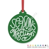 Engraved Acrylic Ornament - Season's Greetings