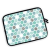 One Sided Zippered Planner Pouch - Hexagons - Sea Breeze