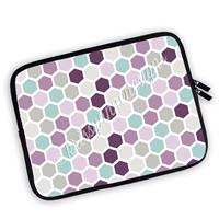 One Sided Zippered Planner Pouch - Hexagons - Purple