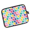 One Sided Zippered Planner Pouch - Hexagons - Rainbow