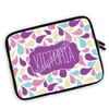 One Sided Zippered Personalized Planner Pouch - Paisley Splash