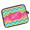 One Sided Zippered Personalized Planner Pouch - Bright Chevron