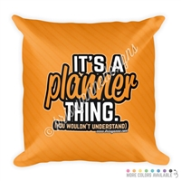 18x18 Throw Pillow - Planner Thing