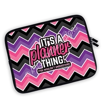 One Sided Zippered Planner Pouch - Chevron It's a Planner Thing