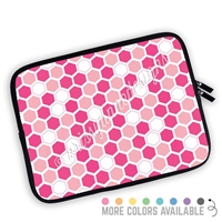 One Sided Zippered Planner Pouch - Hexagons