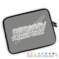 One Sided Zippered Planner Pouch - Emergency Planner Stash