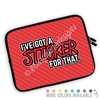 One Sided Zippered Planner Pouch - Sticker For That