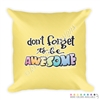 18x18 Throw Pillow - DFTBA