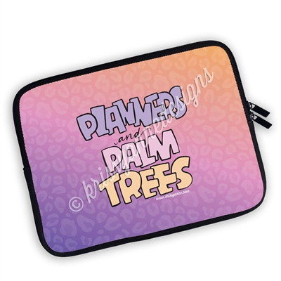Zippered Planner Pouch - Planners & Palm Trees