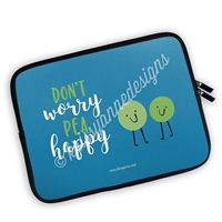 Zippered Planner Pouch - Pea Happy