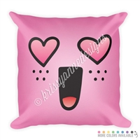18x18 Throw Pillow - Heart Eye Steve
