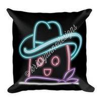 18x18 Throw Pillow - Neon Steve