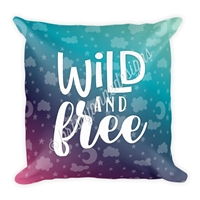 18x18 Throw Pillow - Wild and Free