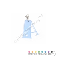 Acrylic Bubble Letter Initial Charm