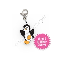 Acrylic Planner Charm - Winter Penguin