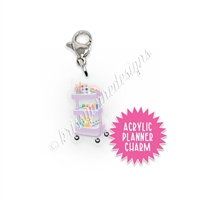 Acrylic Planner Charm - Craft Cart