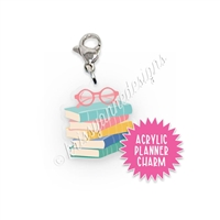 Acrylic Planner Charm - Book Stack