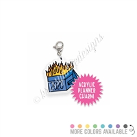 Acrylic Planner Charm - 2020 Dumpster Fire