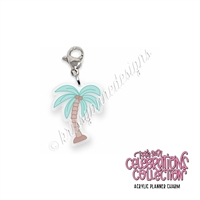 Acrylic Planner Charm - 2021 Summer Palm Tree