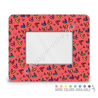 Rectangle Picture Frame 4x6 Neutral Doodle Hearts