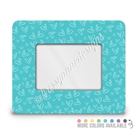 Rectangle Picture Frame - 4x6 - Neutral Doodle Hearts