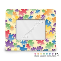 Rectangle Picture Frame - 4x6 - Puzzle Pieces