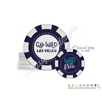 Tradeable Poker Chips - Wild and Free - 5pk