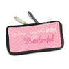 One Sided Zippered Pen Pouch - Wonderful Life
