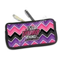 One Sided Zippered Pen Pouch - Chevron Planner Thing