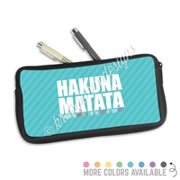One Sided Zippered Pen Pouch - Hakuna Matata
