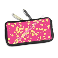 One Sided Zippered Pen Pouch - Splatter