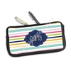 One Sided Zippered Pen Pouch - Stripes