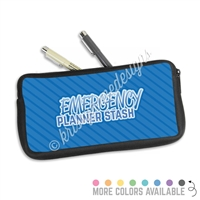 One Sided Zippered Pen Pouch - Emergency Planner Stash