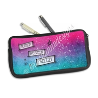 One Sided Zippered Pen Pouch - Keep Austin Wild