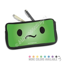 One Sided Zippered Pen Pouch - Unsure Steve