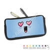 One Sided Zippered Pen Pouch - Heart Eye Steve