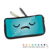 One Sided Zippered Pen Pouch - Sad Steve