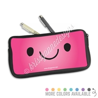 One Sided Zippered Pen Pouch - Smile Steve