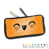 One Sided Zippered Pen Pouch - Happy Steve