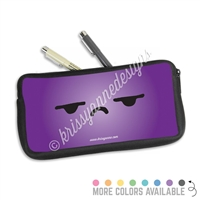One Sided Zippered Pen Pouch - Side Eye Steve