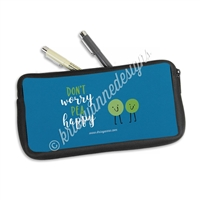 Zippered Pen Pouch - Pea Happy
