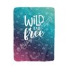 50x60 Sherpa Blanket - Wild and Free
