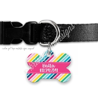 KAD Bone Shaped Pet Tag - Colorful
