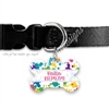 KAD Bone Shaped Pet Tag - Paint Splatter