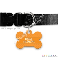 KAD Bone Shaped Pet Tag - Solid Stripes